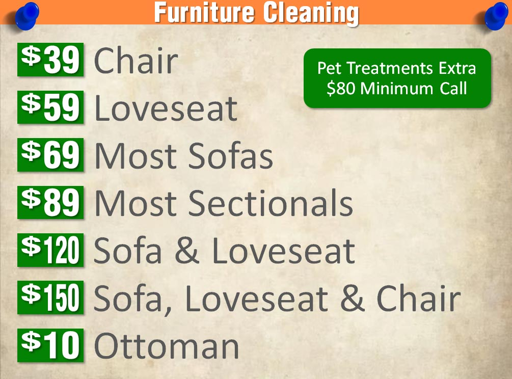 Furniture Cleaning Prices