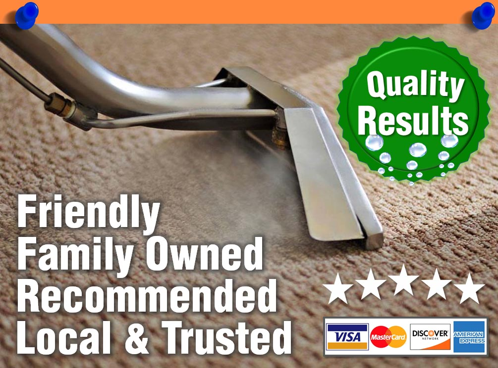 Family Owned and Operated. Trusted. Recommended Local Carpet Cleaning.