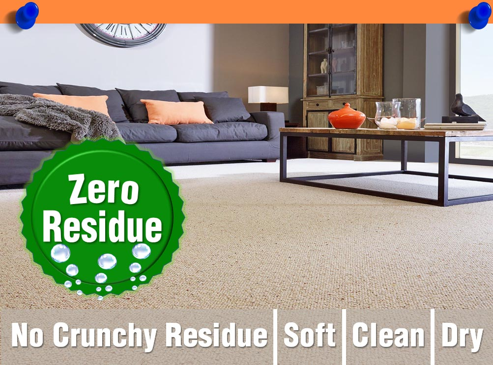 Zero Residue Steam Carpet Cleaning